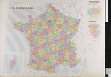 Carte départementale de la France. / Institut géographique national | Institut géographique national (France). Auteur