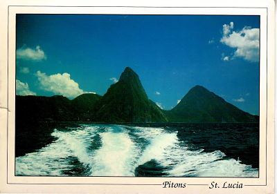 Sainte Lucie. The Pitons. Ph. A. Newman. Exbrayat